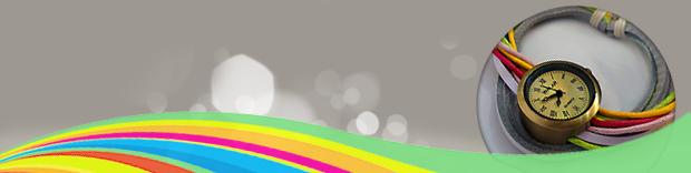 ساعت WALAR طرح رنگین کمان