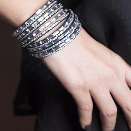 دستبند نگین دار زنانه swarovski