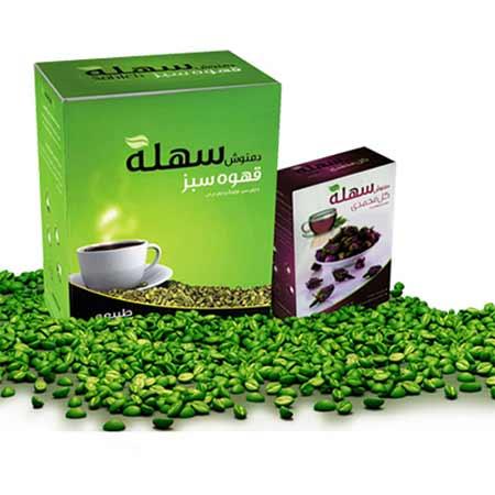 بسته قهوه سبز