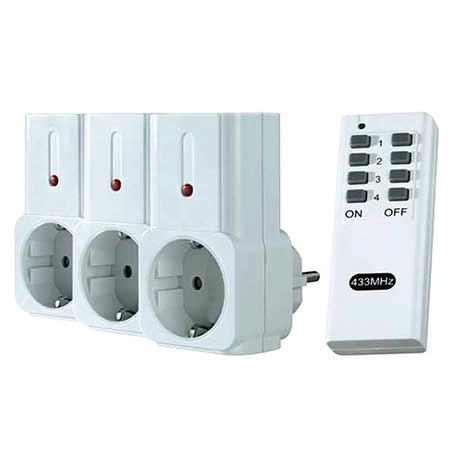 پریز برق سه تایی کنترل دار