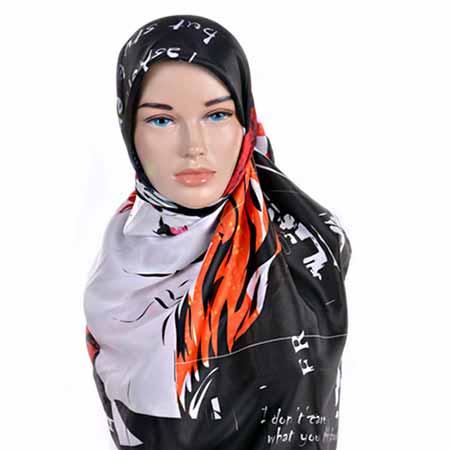 روسری دخترانه ساتن