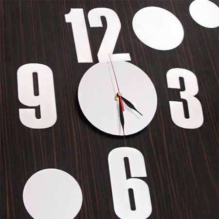 ساعت دیواری فانتزی طرح آینه
