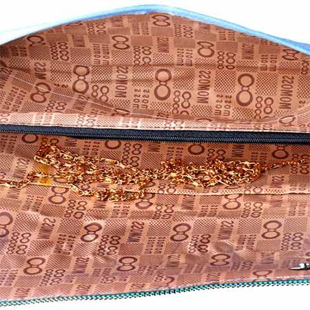 کیف دستی زنانه با بند طلایی رنگ