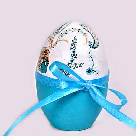 تخم مرغ سفالی تزئینی