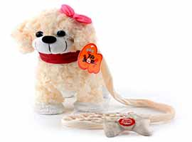 خرید عروسک سگ موزیکال جینو