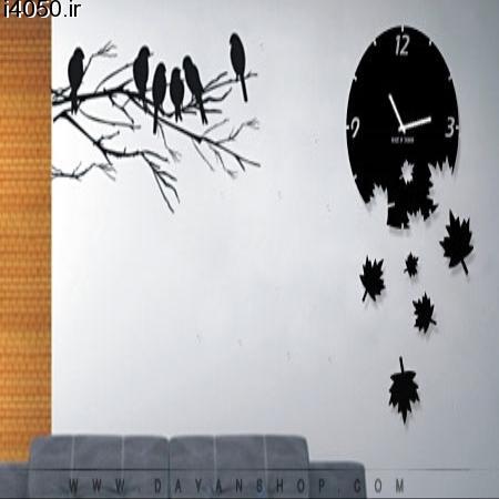 ساعت دیواری طرح پاییز