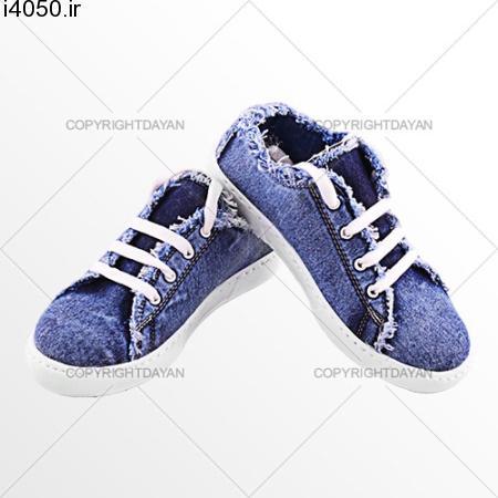 کفش دخترانه جین طرح Love