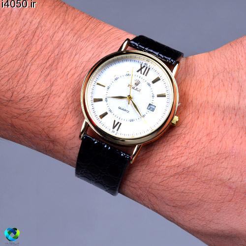 خرید ساعت بند چرمي طرح rolex