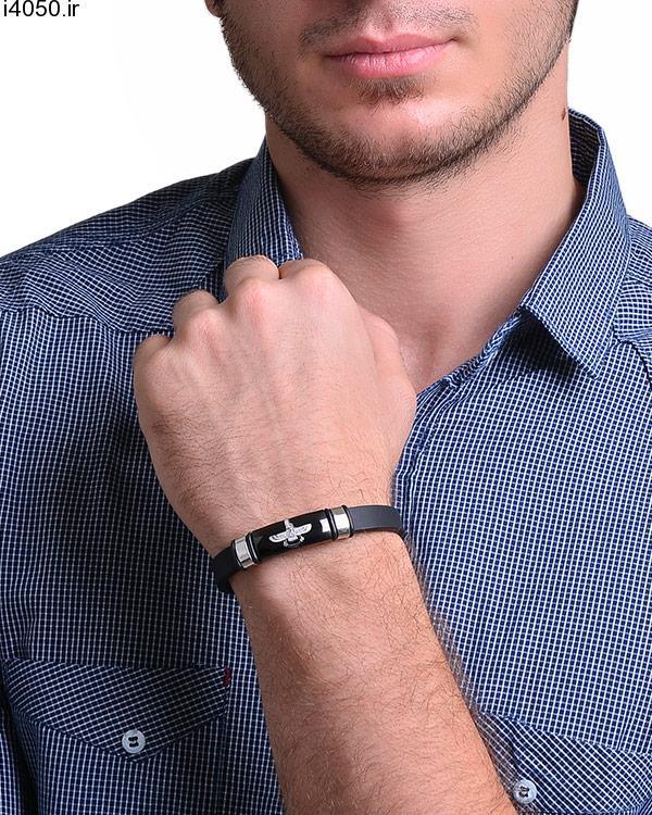 دستبند مردانه طرح فروهر 7