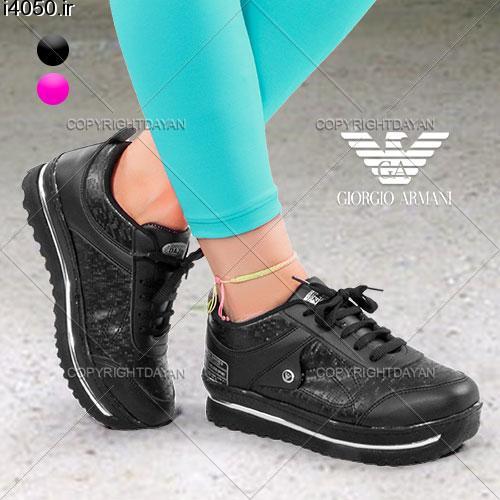 خرید اینترنتی کفش پیاده روی آرمانی Black&Pink