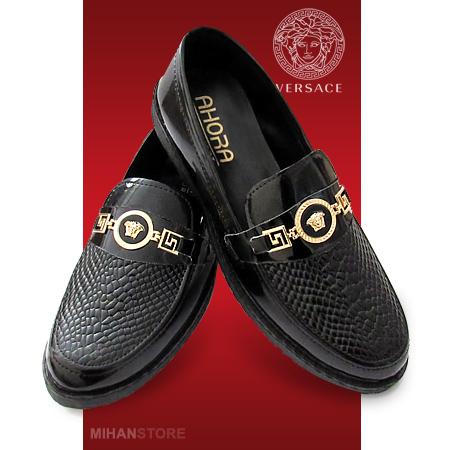 خرید پستی ارزان کفش ورنی مردانه Versace