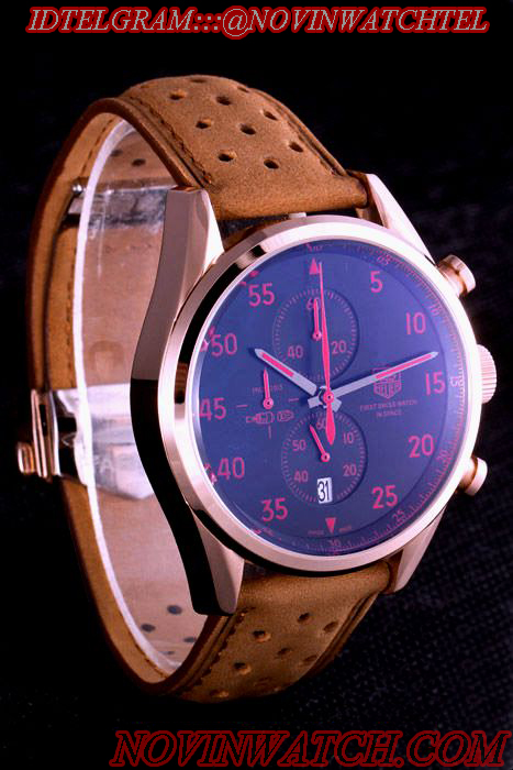 خرید پستی ساعت مچی مردانه تک هور طرح مدل spacex tag heuer