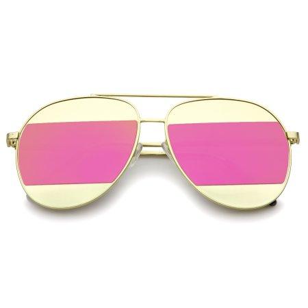 خرید پستی جدید ترین عینک رفلکس دو رنگAviator