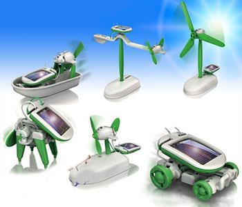 خرید پستی ارزان روبات خورشیدی ۶ کاره