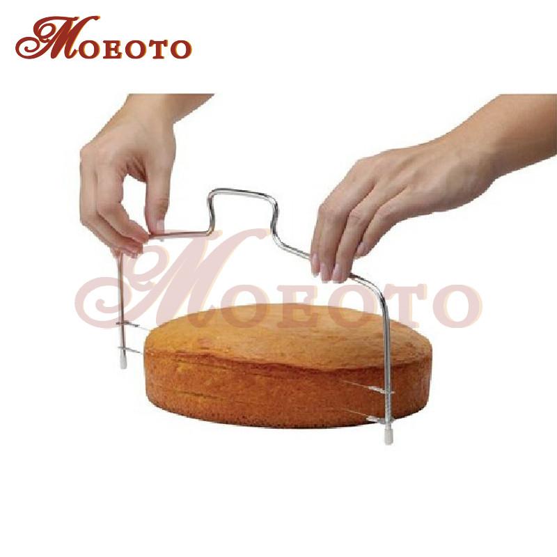 خرید اینترنتی ارزان اره برش کیک دو تیغه متحرک استیل