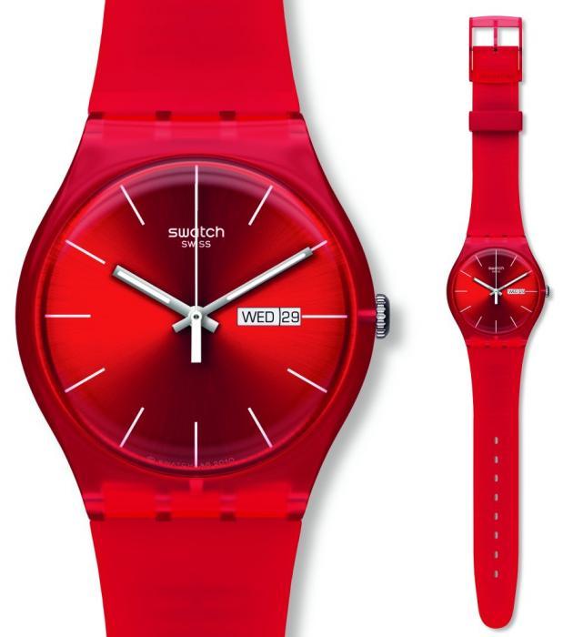 خرید اینترنتی ارزان ساعت سواچ (swatch) رنگی دو تقویم