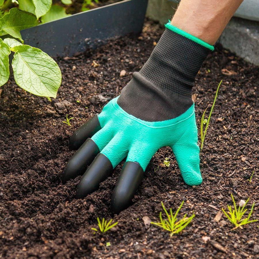 خرید آنلاین دستکش ناخن دار باغبانی دوکاره