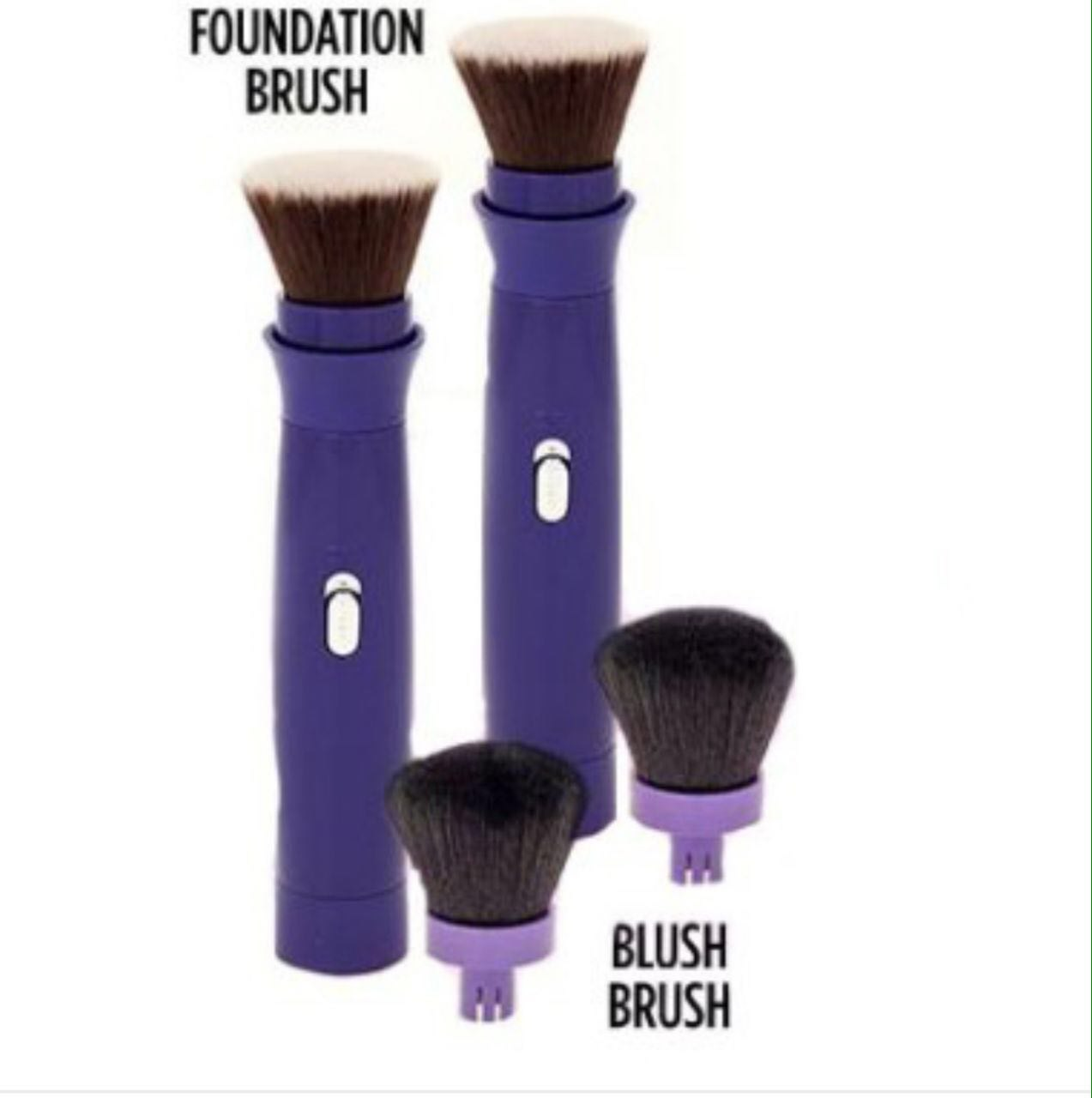 خرید آنلاین  فرچه آرایش حرفه ای دو کاره باطری خور