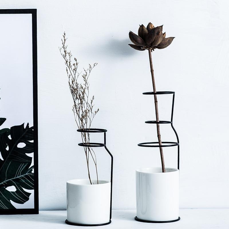 خرید آنلاین گلدان فلزی plusHome بلند