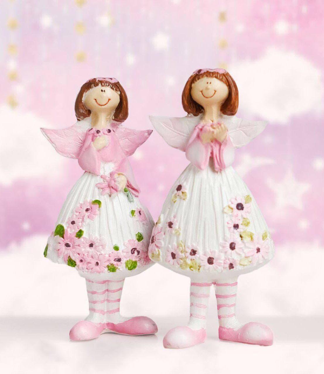 خرید آنلاین مجسمه فرشته های بالدار جفتی