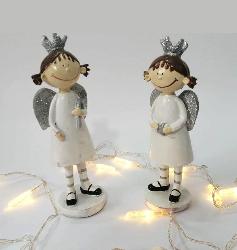 خرید آنلاین مجسمه فرشته تاجدار بزرگ 2 تایی