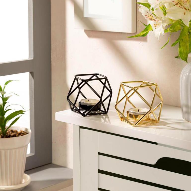 خرید آنلاین جاشمعی فلزی با طراحی مینیمال و مدرن