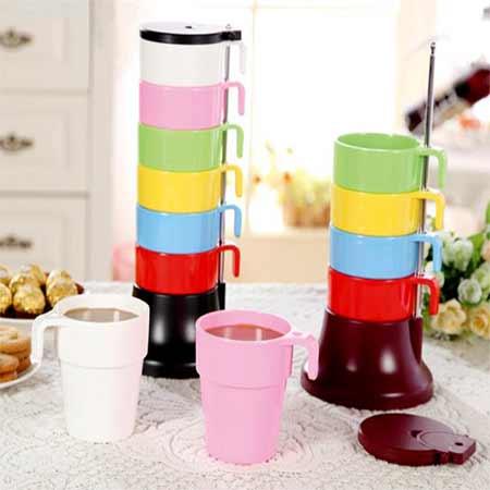 ست لیوان های رنگارنگ