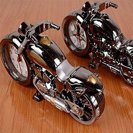 ساعت رومیزی کودکانه طرح موتور سیکلت